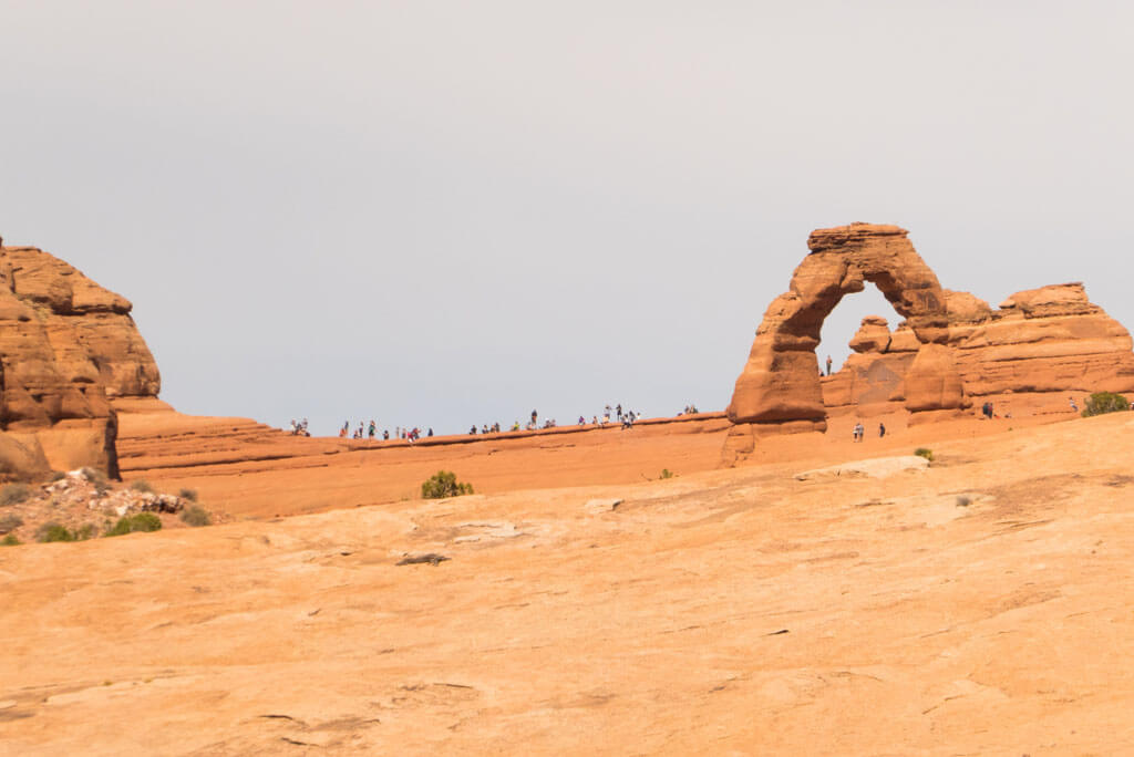 Delicate arch lower viewpoint