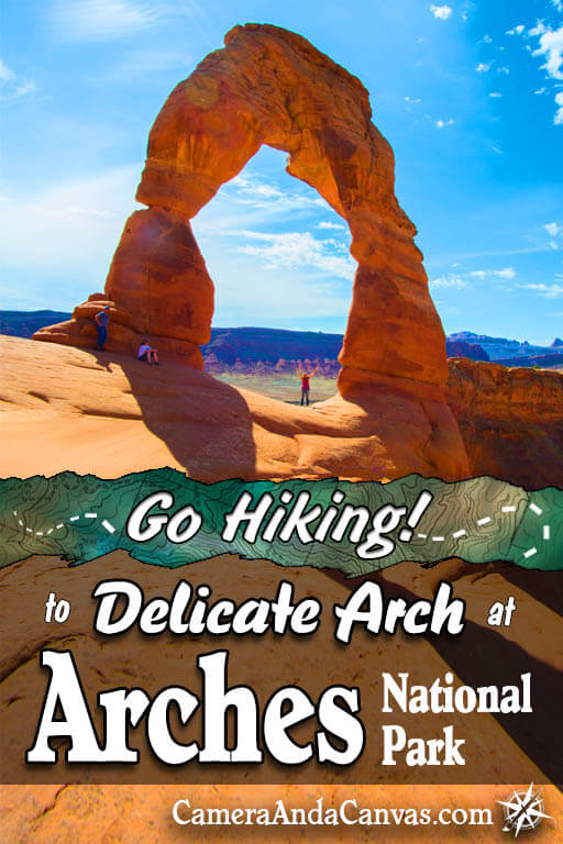 Delicate Arch is probably the most famous landmark in Arches National Park, in fact probably in all of Utah itself! This article is all about the trail that you can hike to go and see it for yourself! If you love red rocks and desert landscapes, and don't mind a bit of a challenge, then I highly recommend going if you visit Arches, located just outside of Moab Utah! #Arches #ArchesNationalPark #DelicateArch #Utah #Moab