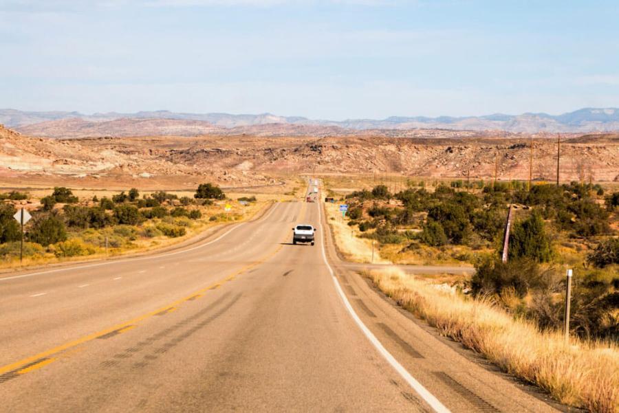 Highway Interstate 70 in Utah
