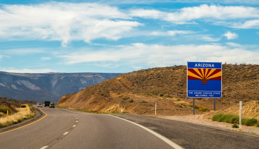 Entering Arizona from Utah