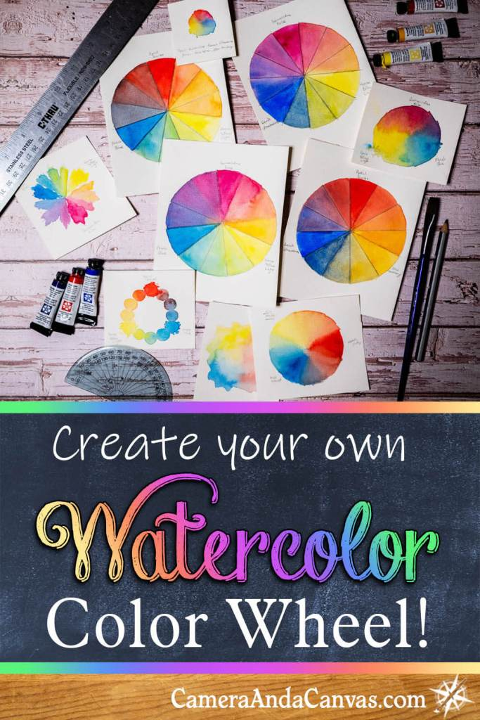 create your own watercolor color wheel