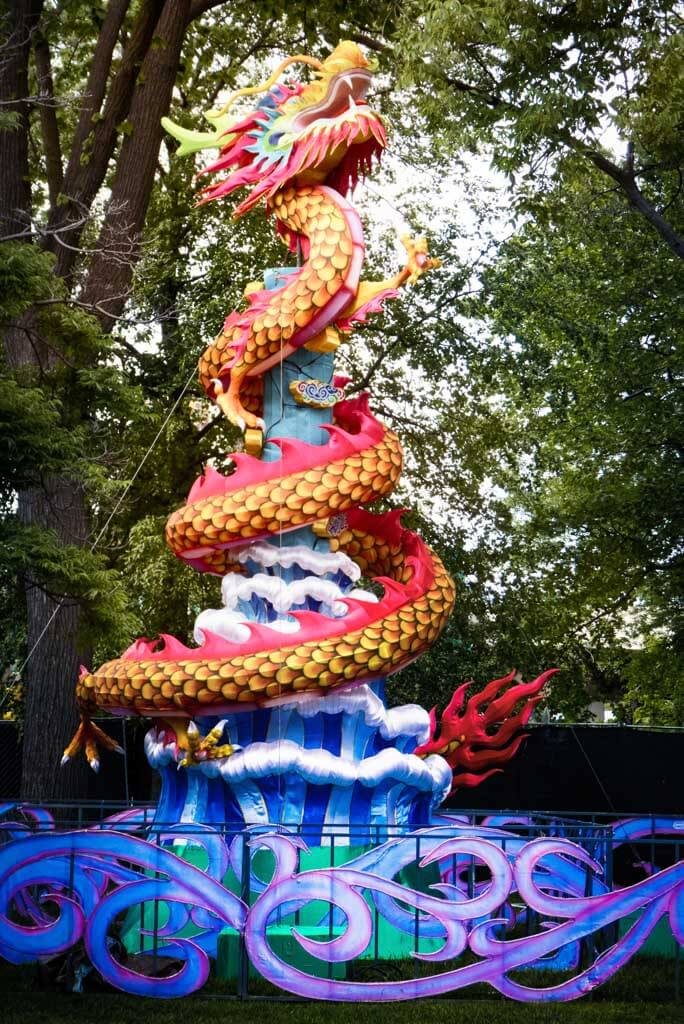 Chinese Lantern Festival 2017, Franklin Square, Philadelphia. Dragon lantern.