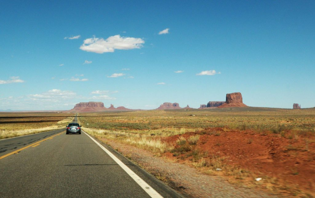 On the road to Monument Valley