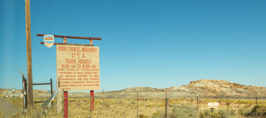 Four Corners Monument Sign