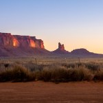 sunrise monument valley