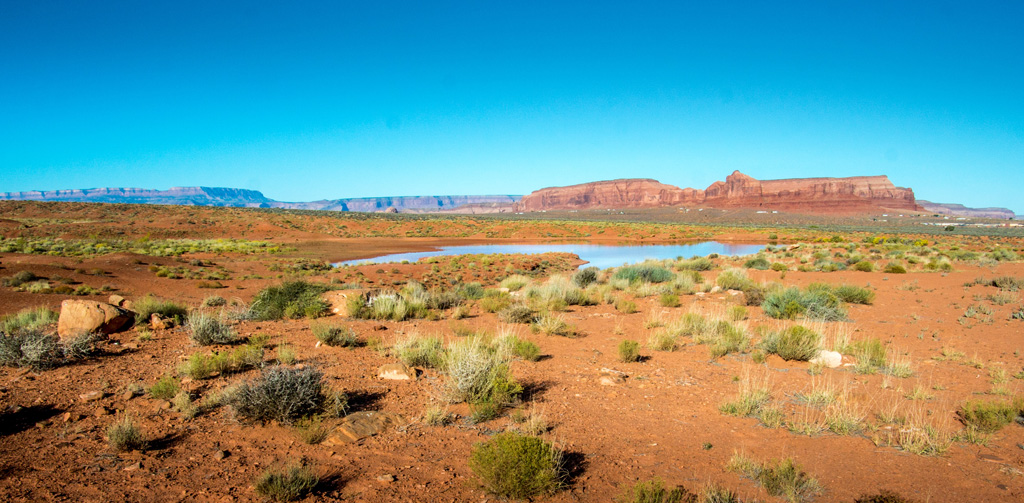 Monument Valley water reservoir