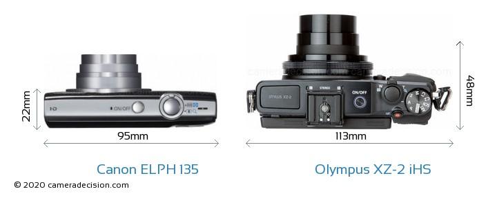 Canon ELPH 135 vs Olympus XZ-2 iHS Detailed Comparison