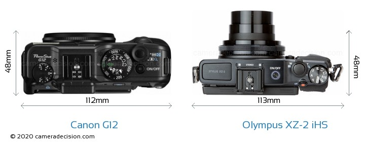 Canon G12 vs Olympus XZ-2 iHS Detailed Comparison