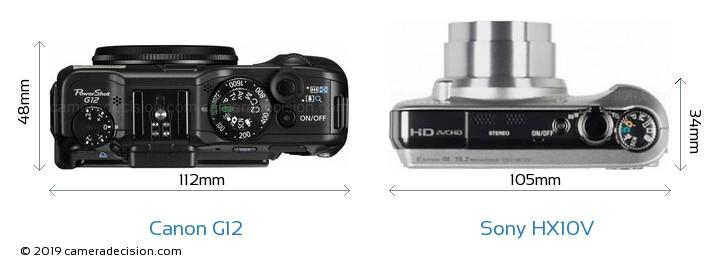 Canon G12 vs Sony HX10V Detailed Comparison