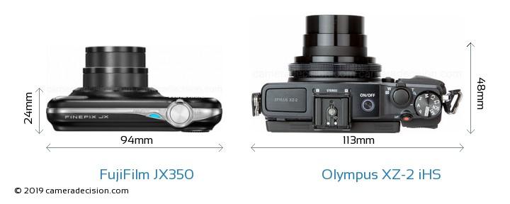 FujiFilm JX350 vs Olympus XZ-2 iHS Detailed Comparison