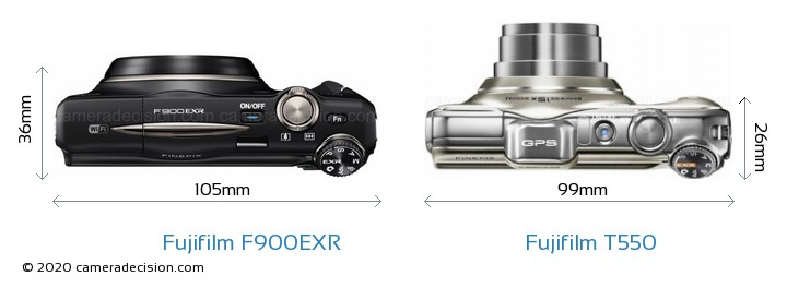 Fujifilm F900EXR vs Fujifilm T550 Detailed Comparison