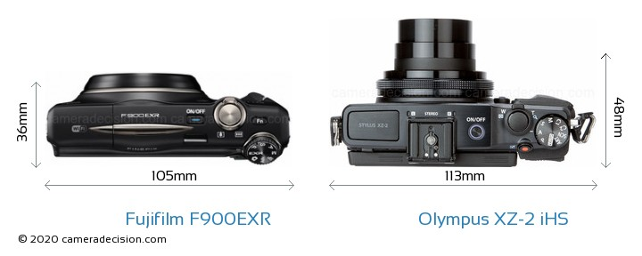 Fujifilm F900EXR vs Olympus XZ-2 iHS Detailed Comparison