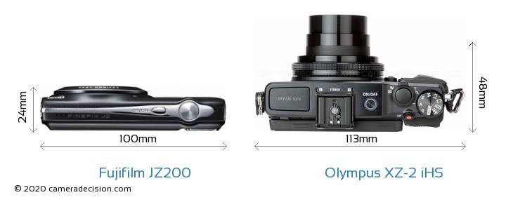Fujifilm JZ200 vs Olympus XZ-2 iHS Detailed Comparison