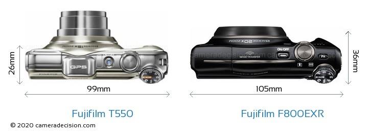 Fujifilm T550 vs Fujifilm F800EXR Detailed Comparison