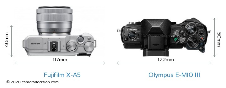 Fujifilm X-A5 vs Olympus E-M10 MIII Detailed Comparison