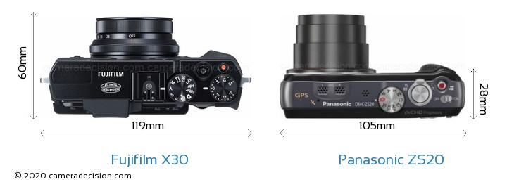 Fujifilm X30 vs Panasonic ZS20 Detailed Comparison