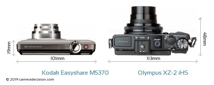 Kodak Easyshare M5370 vs Olympus XZ-2 iHS Detailed Comparison