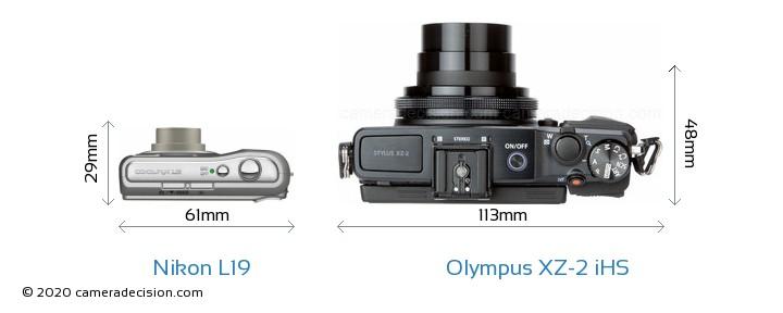 Nikon L19 vs Olympus XZ-2 iHS Detailed Comparison