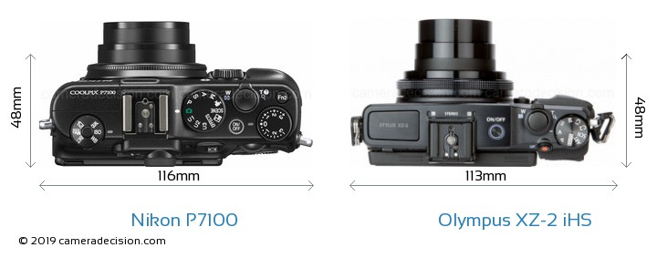 Nikon P7100 vs Olympus XZ-2 iHS Detailed Comparison