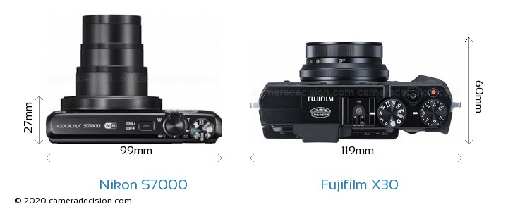 Nikon S7000 vs Fujifilm X30 Detailed Comparison