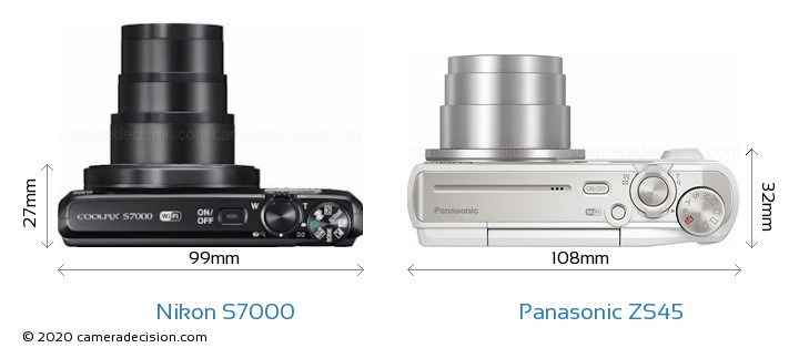 Nikon S7000 vs Panasonic ZS45 Detailed Comparison