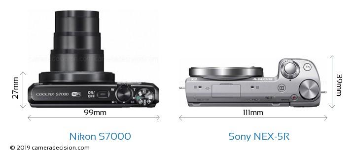 Nikon S7000 vs Sony NEX-5R Detailed Comparison