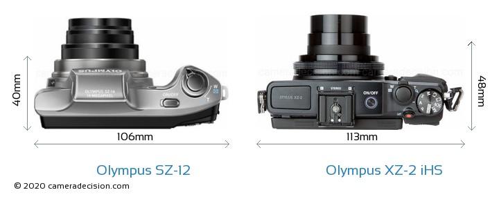 Olympus SZ-12 vs Olympus XZ-2 iHS Detailed Comparison