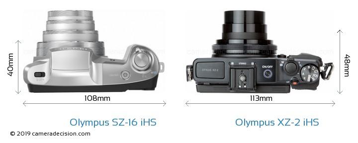 Olympus SZ-16 iHS vs Olympus XZ-2 iHS Detailed Comparison