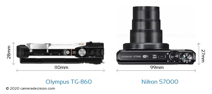 Olympus TG-860 vs Nikon S7000 Detailed Comparison