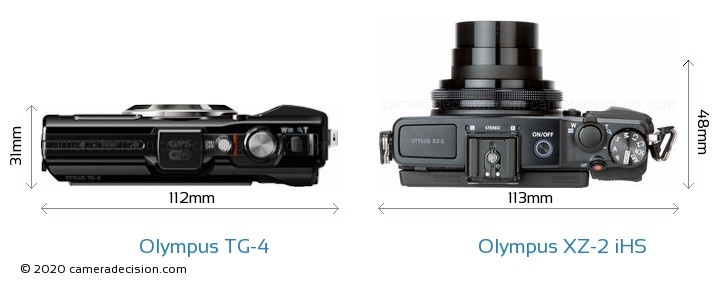 Olympus TG-4 vs Olympus XZ-2 iHS Detailed Comparison