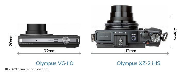 Olympus VG-110 vs Olympus XZ-2 iHS Detailed Comparison
