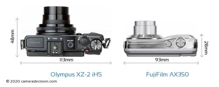 Olympus XZ-2 iHS vs FujiFilm AX350 Detailed Comparison