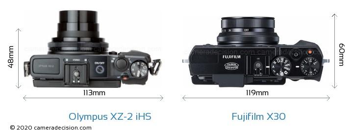 Olympus XZ-2 iHS vs Fujifilm X30 Detailed Comparison
