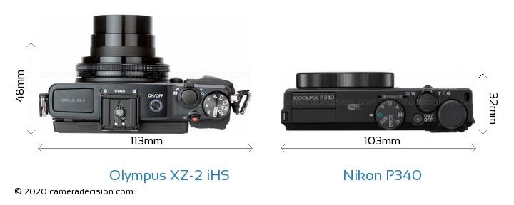 Olympus XZ-2 iHS vs Nikon P340 Detailed Comparison