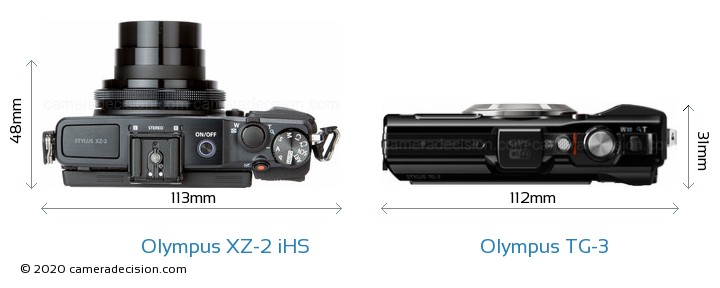 Olympus XZ-2 iHS vs Olympus TG-3 Detailed Comparison
