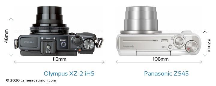 Olympus XZ-2 iHS vs Panasonic ZS45 Detailed Comparison