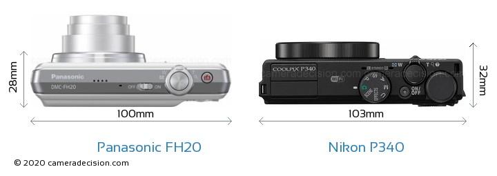 Panasonic FH20 vs Nikon P340 Detailed Comparison