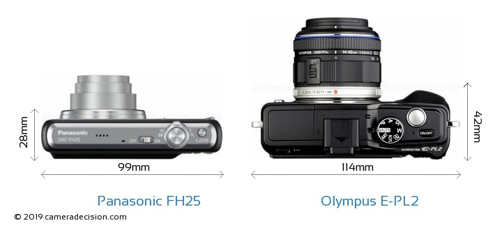 Panasonic FH25 vs Olympus E-PL2 Detailed Comparison