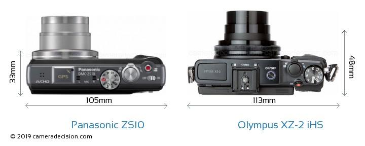 Panasonic ZS10 vs Olympus XZ-2 iHS Detailed Comparison