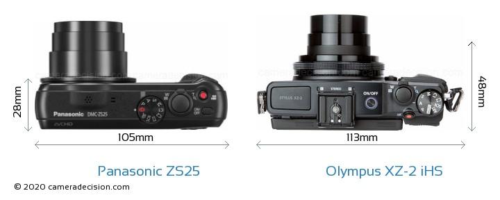 Panasonic ZS25 vs Olympus XZ-2 iHS Detailed Comparison