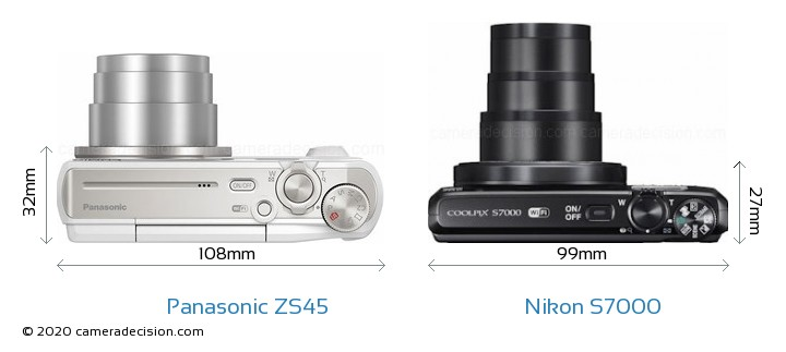 Panasonic ZS45 vs Nikon S7000 Detailed Comparison