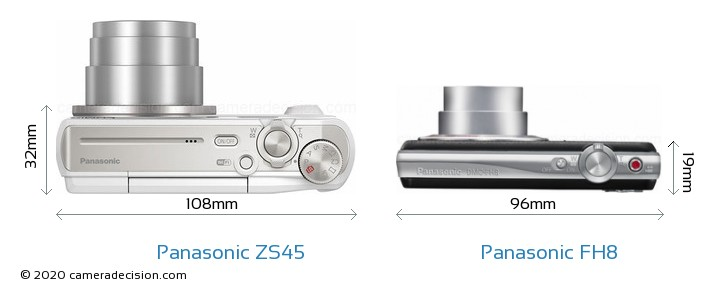 Panasonic ZS45 vs Panasonic FH8 Detailed Comparison