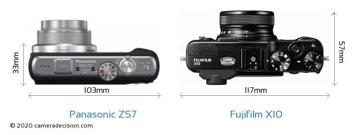 Panasonic ZS7 vs Fujifilm X10 Detailed Comparison