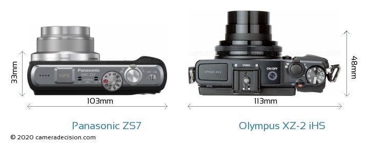 Panasonic ZS7 vs Olympus XZ-2 iHS Detailed Comparison