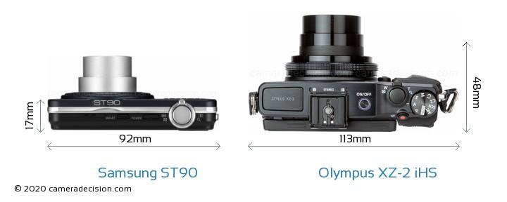 Samsung ST90 vs Olympus XZ-2 iHS Detailed Comparison