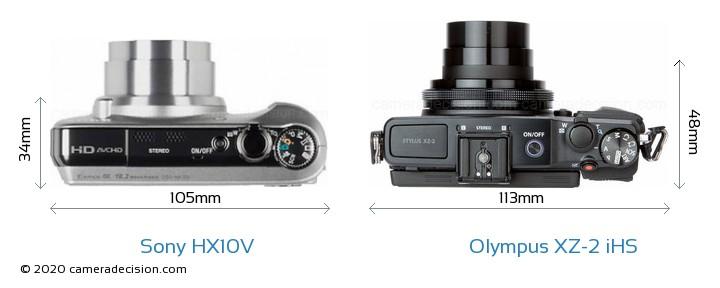 Sony HX10V vs Olympus XZ-2 iHS Detailed Comparison
