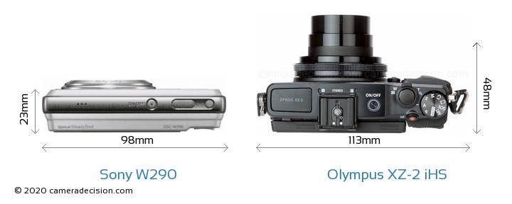 Sony W290 vs Olympus XZ-2 iHS Detailed Comparison