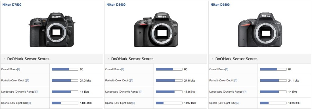 DxOMark Published The Nikon D7500 Tests and Reviews