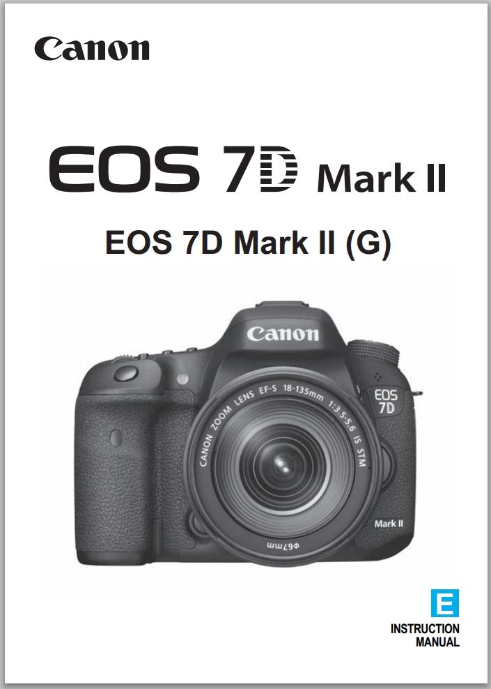 Canon Eos 7d Mark Ii : canon, Canon, Instruction, Manual, Available, Download, Camera, Cameraegg
