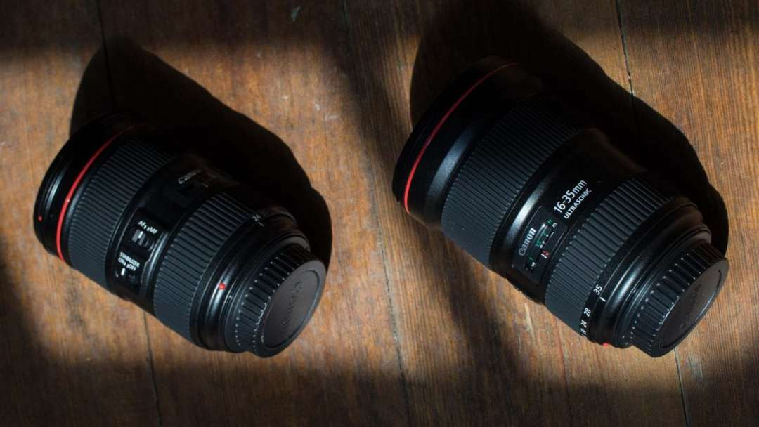 Canon 24-105mm and 16-35mm lenses August 2016